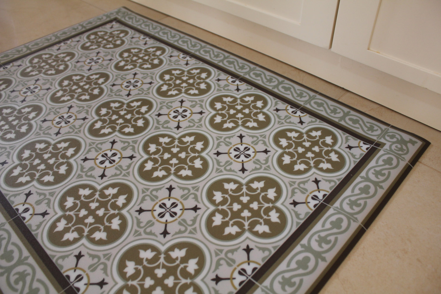 Linoleum Tiles In A Kitchen