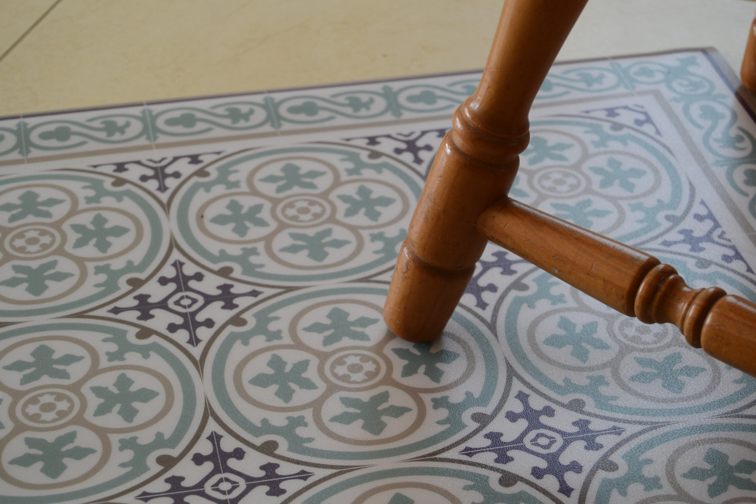 Decorative Vinyl Floors : Pvc vinyl mat tiles pattern decorative linoleum rug