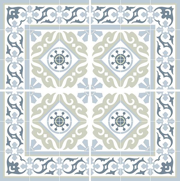 Traditional Tiles Floor Tiles Floor Vinyl Tile Stickers Tile Decals