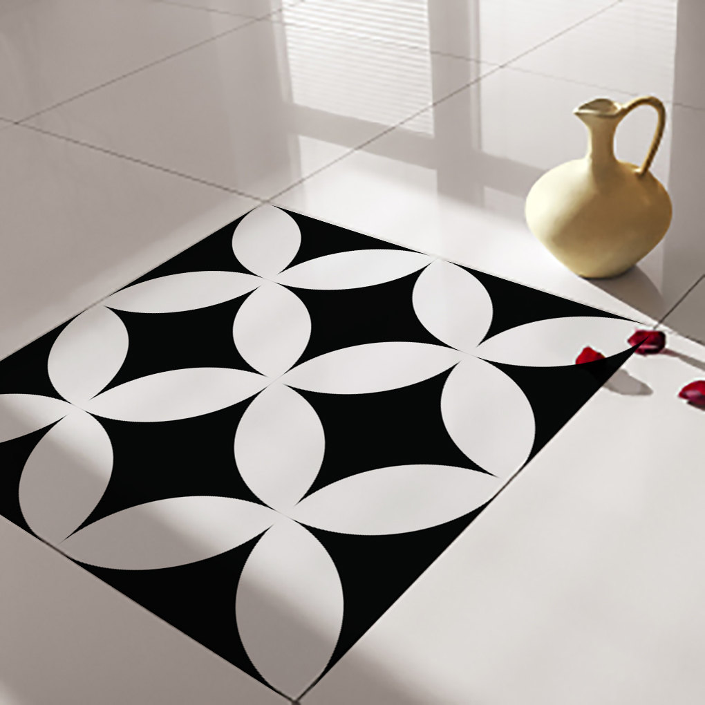 Floor tile decals stickers vinyl decals vinyl floor for Floor stickers