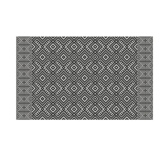 FREE SHIPPING kilim Pattern Decorative PVC vinyl mat linoleum rug - dark gray- k-210