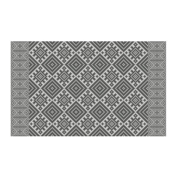 FREE SHIPPING kilim Pattern Decorative PVC vinyl mat linoleum rug - gray- k-411