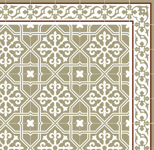 FREE SHIPPING Tiles Pattern Decorative PVC vinyl mat linoleum rug- light green - 604