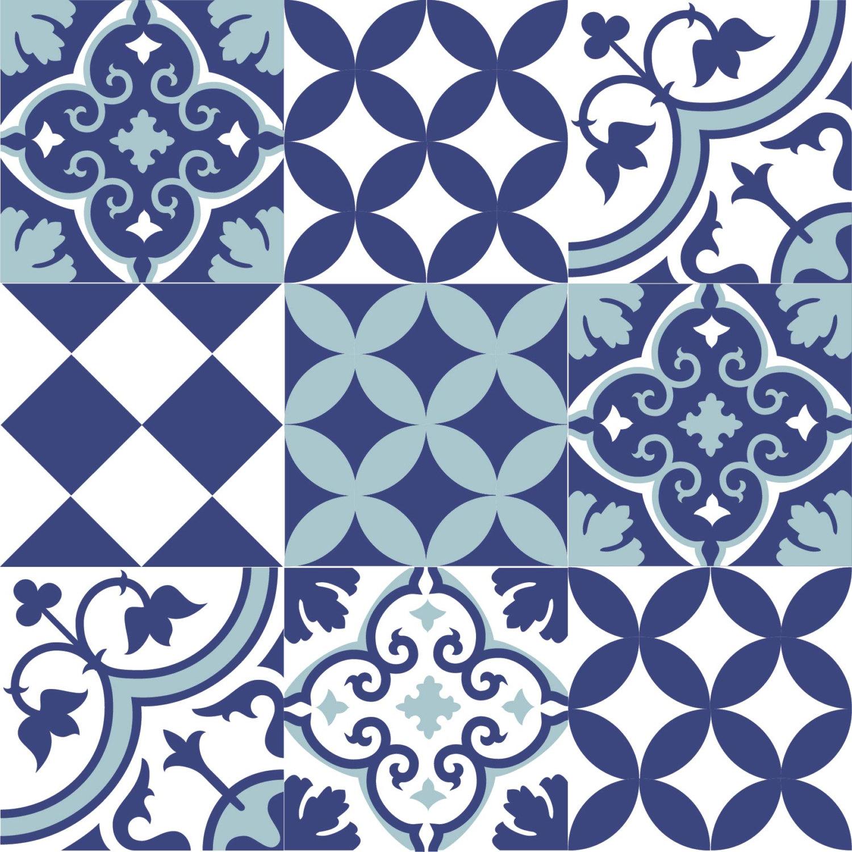 Mix Tile Decals  Kitchen/Bathroom tiles vinyl floor tiles free shipping - design 309