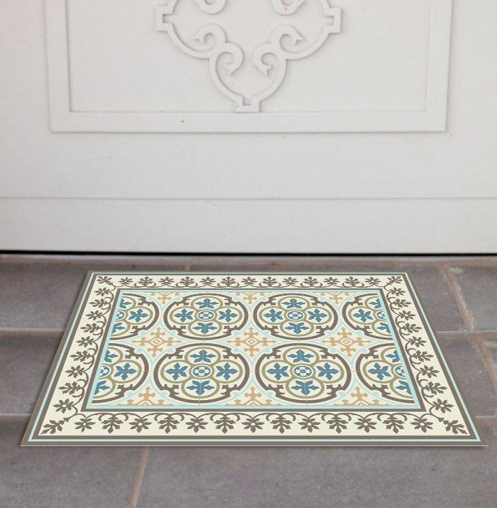 PVC Door Mat, Welcome Mat, Dog Rug, Tile rug,  Pets mat,  Comfort mat, Housewarming , 104