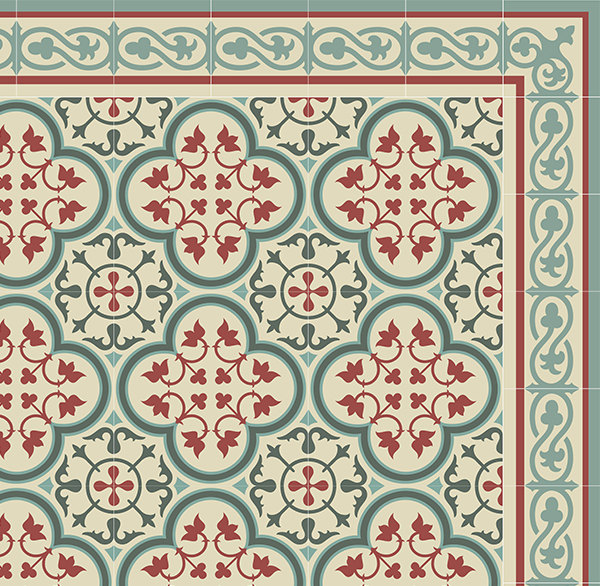 PVC vinyl mat Tiles Pattern Decorative  linoleum rug PVC Rug, Bordeaux And Blue 177 FREE Shipping