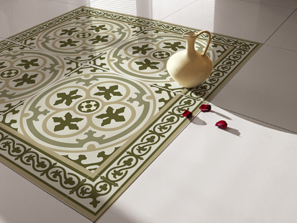 Traditional Tiles - Floor Tiles - Floor Vinyl - Tile Stickers - Tile Decals - bathroom tile decal - kitchen tile decal - 107
