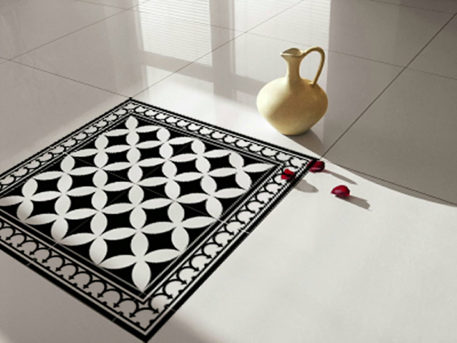 Traditional tiles floor tiles floor vinyl tile for Floor stickers
