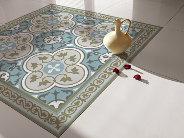 Traditional tiles floor tiles floor vinyl tile for Bathroom tile stickers