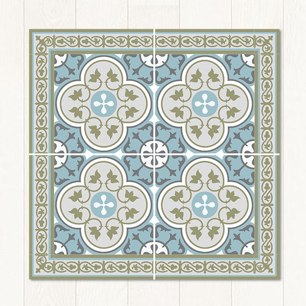 Traditional tiles floor tiles floor vinyl tile stickers tile decals bathroom tile - Decorative bathroom tiles ...