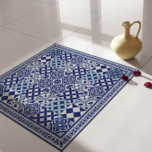 Traditional Tiles - Floor Tiles - Floor Vinyl - Tile Stickers - Tile Decals - bathroom tile decal - kitchen tile decal - 309