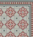 Kitchen Mat, Kitchen décor, Mat, rustic kitchen, Decorative tiles, area rug , Printed big mat, Pvc mat, Beige & Bordeaux , no. 603
