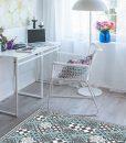 Mat, Floor rug, Kitchen décor, Kitchen mat, Rustic kitchen, Decorative tiles, Designed kitchen, Printed mat, Pvc mat, Gray, no. 310