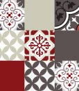 Mix Tile Decals  Kitchen/Bathroom tiles vinyl floor tiles free shipping – design 301