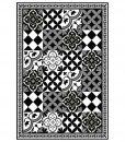 PVC vinyl mat linoleum rug Free Shipping Mix Tiles Pattern 313 – black & white