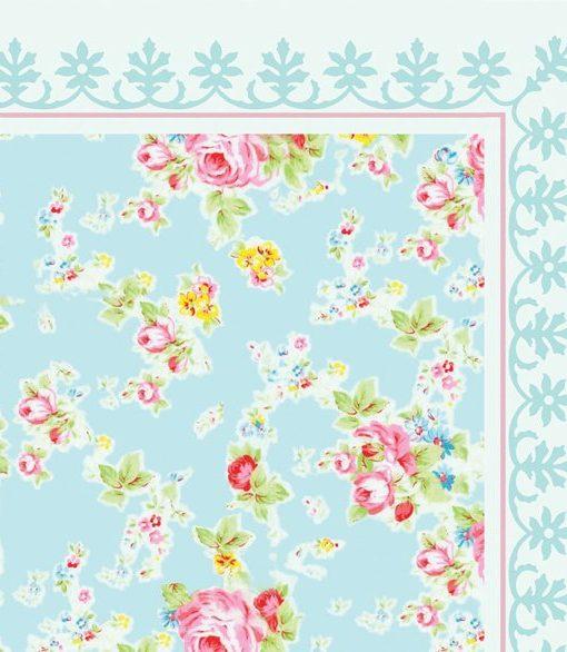 SALE ! Flowers Pattern Decorative PVC vinyl mat linoleum rug – roses 04,  140X90 CM