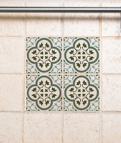 Tile Decals Kitchen/Bathroom tiles vinyl floor tiles free shipping – design 170