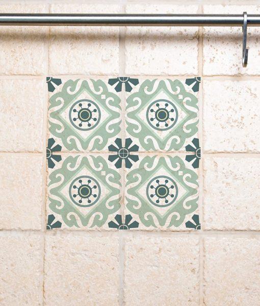 Tile Wall Decals, Traditional  Tiles Stickers, Tiles Decals, Tiles for Kitchen Backsplash / Bathroom – design 211