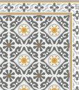 Yellow Gray Kitchen Mat, PVC vinyl mat Tiles Pattern Decorative  linoleum rug , 214 FREE Shipping