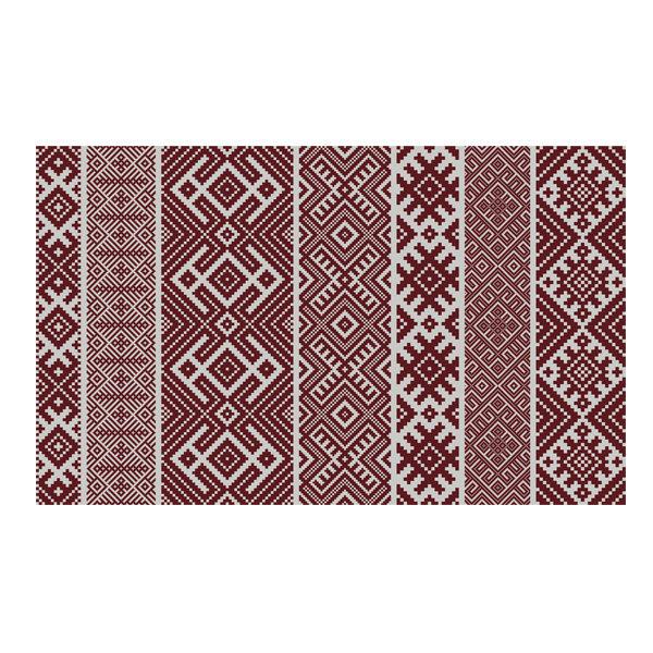 FREE SHIPPING kilim Pattern Decorative PVC vinyl mat linoleum rug - Bordeaux k-112