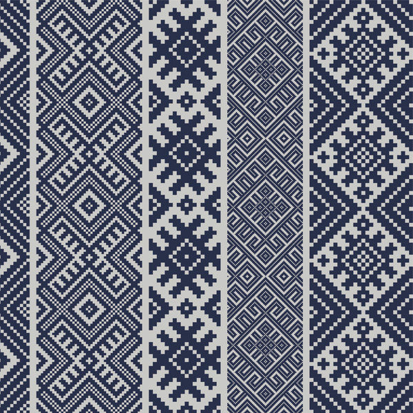 FREE SHIPPING kilim Pattern Decorative PVC vinyl mat linoleum rug - dark blue with gray  k-111