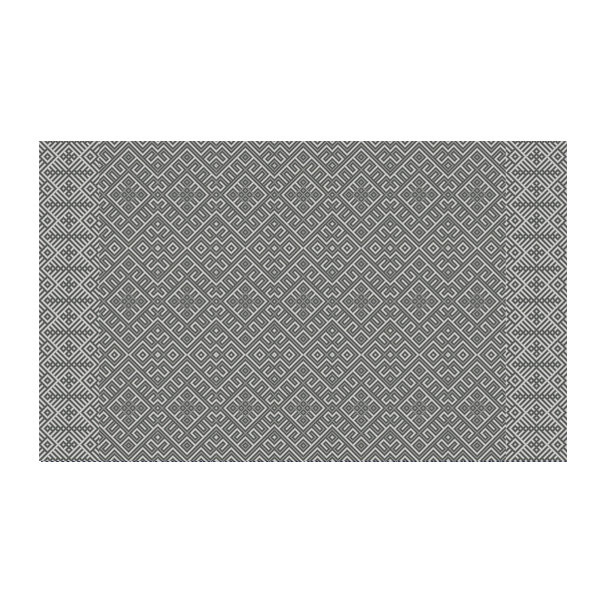 FREE SHIPPING kilim Pattern Decorative PVC vinyl mat linoleum rug - gray- k-310