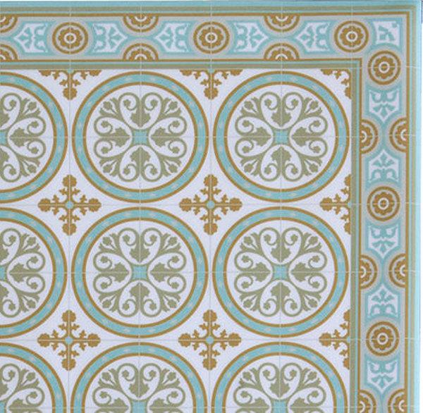 Free Shipping Tiles Pattern Decorative Pvc Vinyl Mat