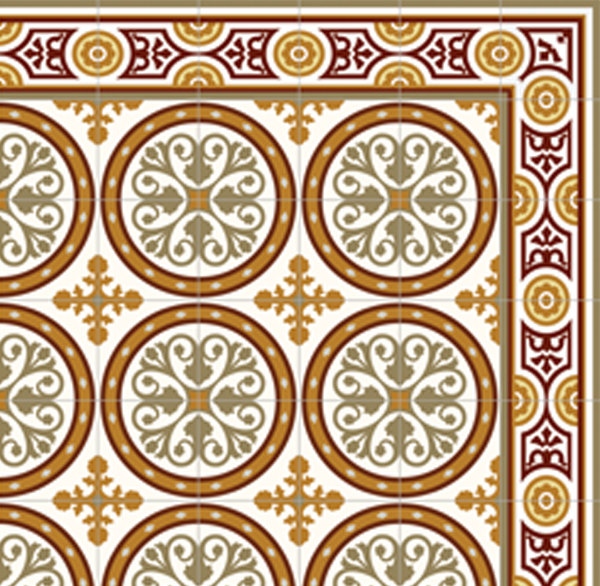Home decor for Patterned linoleum tiles
