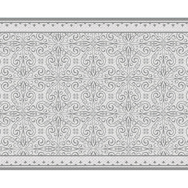 Free Shipping white Table Runner Wedding Table Runner geometric design placemat no.03