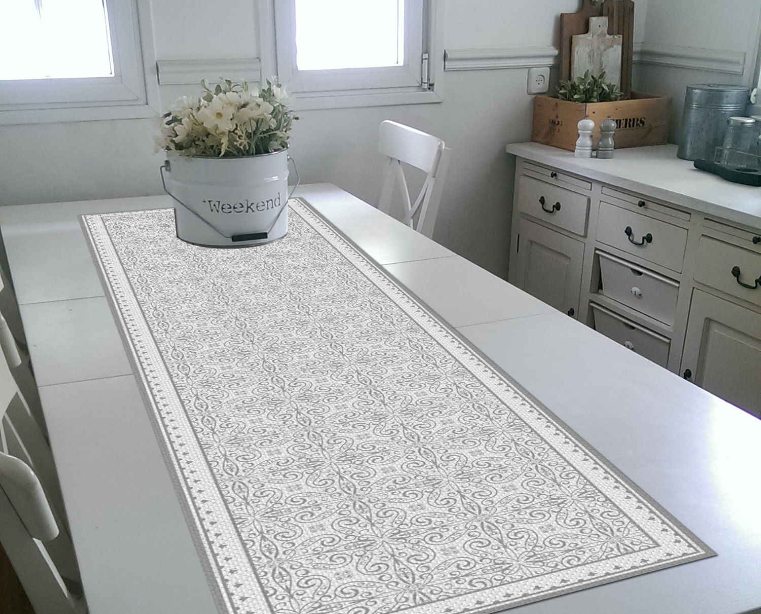 Free Shipping White Table Runner Wedding Table Runner