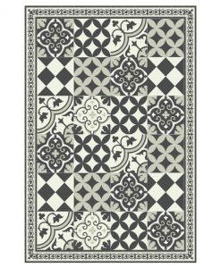 Mat, Kitchen décor, Kithchen mat, rustic kitchen, Decorative tiles, Designed kitchen, Printed mat, Pvc mat, gray, no. 312,