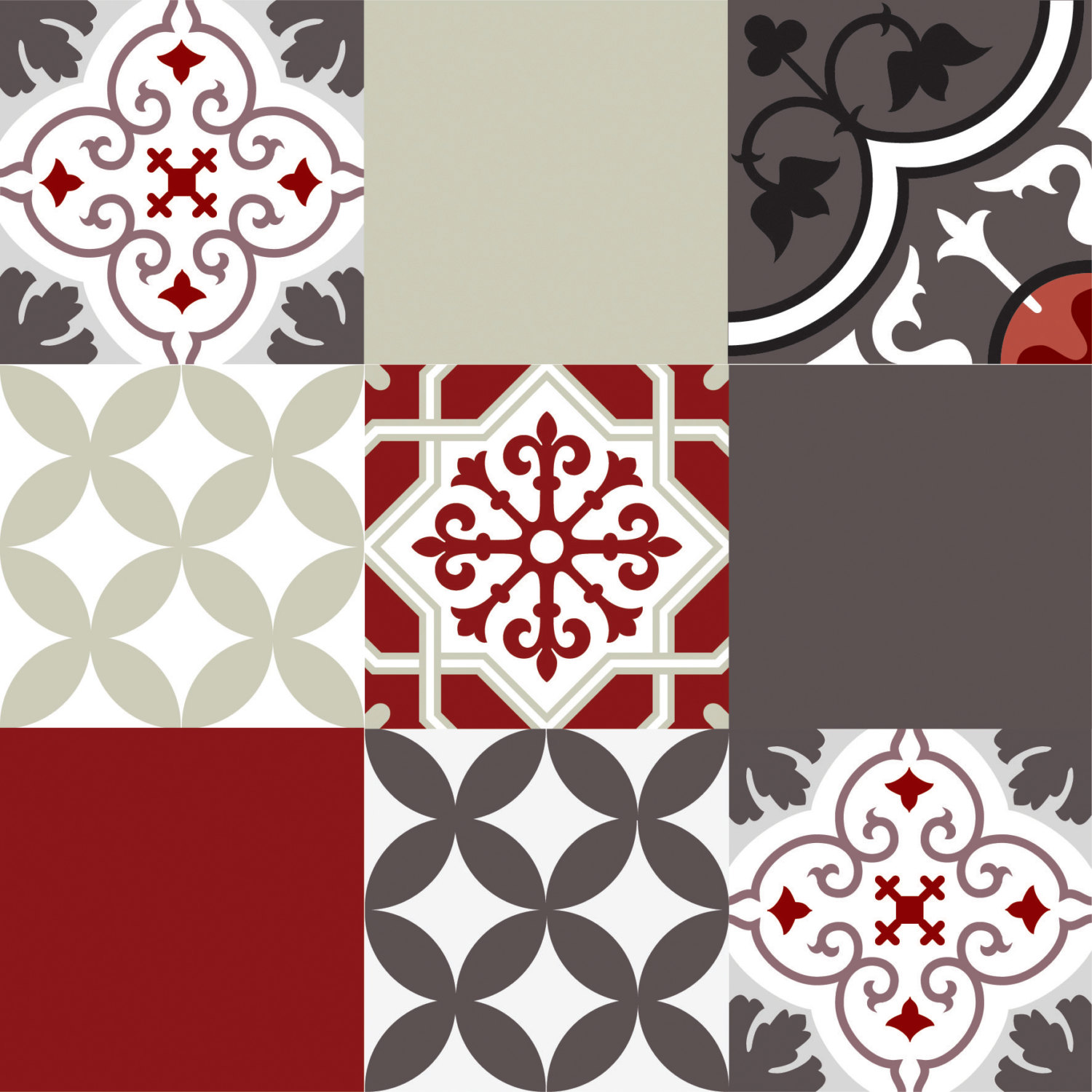 Mix Tile Decals Kitchenbathroom Tiles Vinyl Floor Tiles