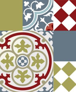 Mix Tile Decals  Kitchen/Bathroom tiles vinyl floor tiles free shipping - design 303