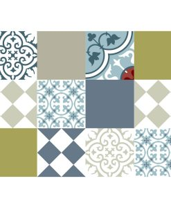 Mix Tile Decals  Kitchen/Bathroom tiles vinyl floor tiles free shipping - design 306