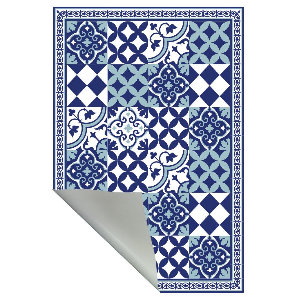 Blue Pattern Rug Rugs Ideas