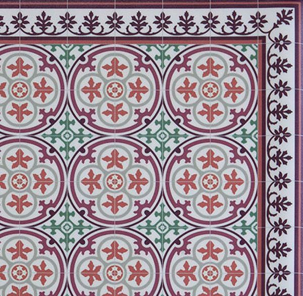 Pvc Vinyl Mat Tiles Pattern Decorative Linoleum Rug