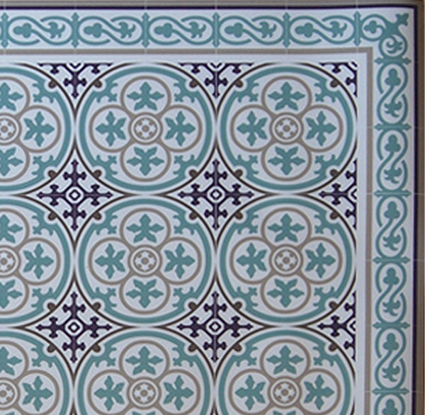 PVC vinyl mat Tiles Pattern Decorative  linoleum rug  Kitchen Mat Azure And Purple 106 , FREE SHIPPING