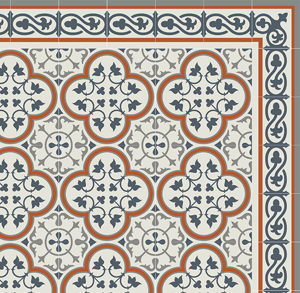 PVC vinyl mat Tiles Pattern Decorative  linoleum rug Orange And Gray 179 ,FREE Shipping