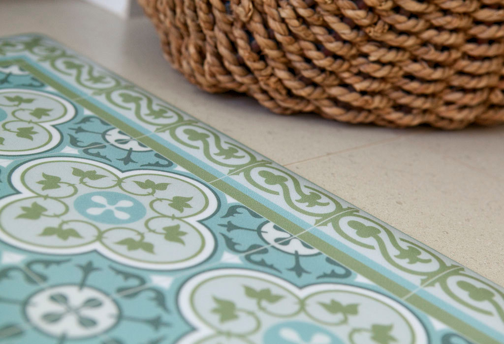 PVC vinyl mat Tiles Pattern Decorative  linoleum rug PVC Rug, Kitchen Mat FREE Shipping - 178