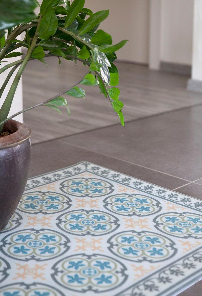 Linoleum rugs for sale roselawnlutheran for Blue linoleum floor tiles
