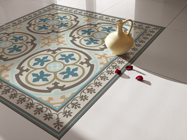 Traditional Tiles - Floor Tiles - Floor Vinyl - Tile Stickers - Tile Decals - bathroom tile decal - kitchen tile decal - 104