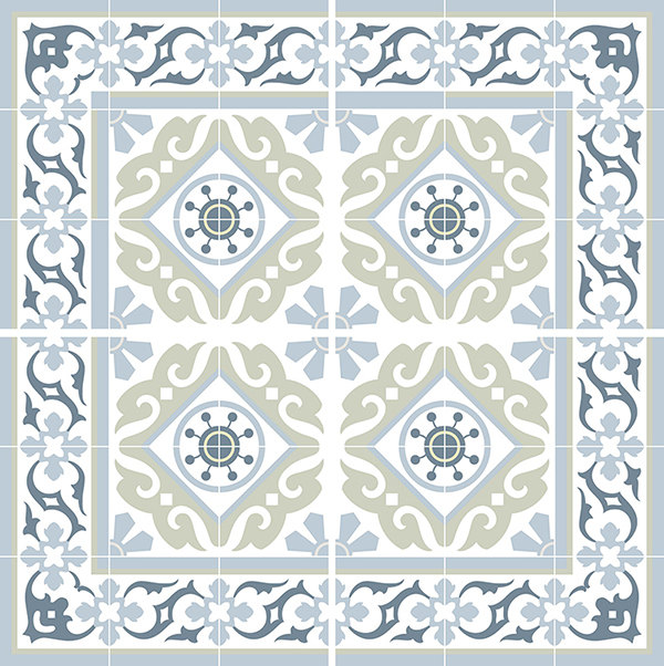 Traditional Tiles Floor Tiles Floor Vinyl Tile Stickers