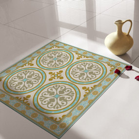 Traditional Tiles - Floor Tiles - Floor Vinyl - Tile Stickers - Tile Decals - bathroom tile decal - kitchen tile decal -812
