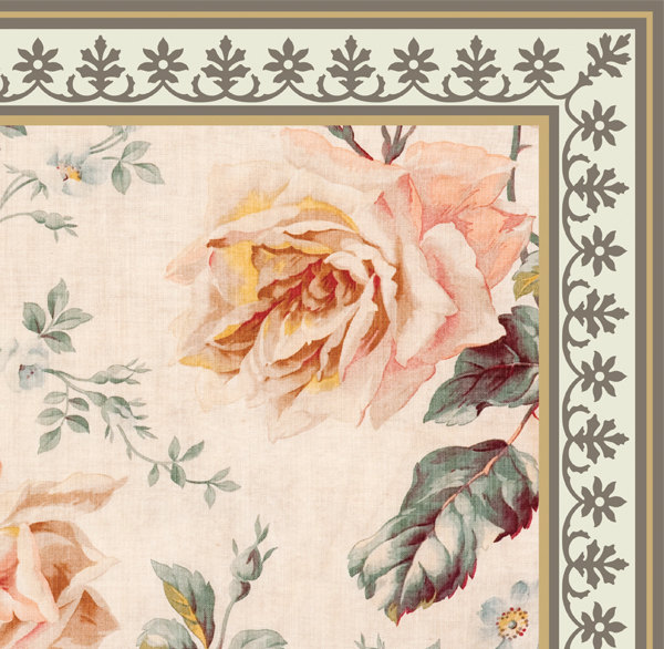 PVC vinyl mat Tiles Pattern Decorative  linoleum rug  - roses 03, FREE Shipping