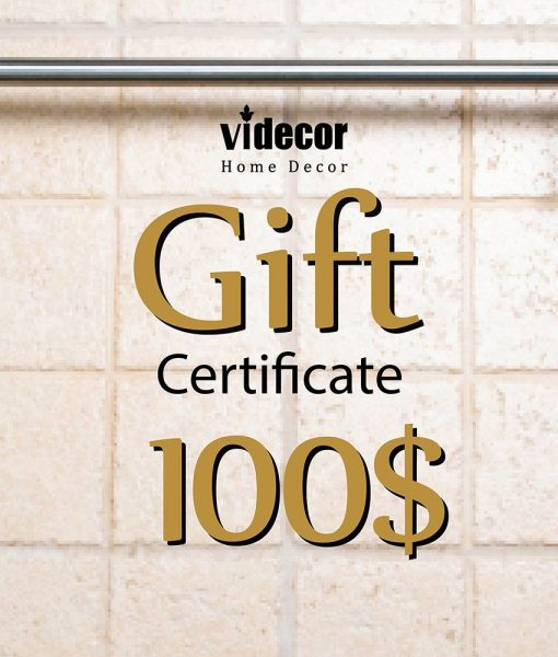 Electronic Gift Certificate for Videcor on Etsy, 100 USD Gift E- Card, Etsy Gift, Anonymous Gift, Secret Santa, Surprise Gift, Fundraiser