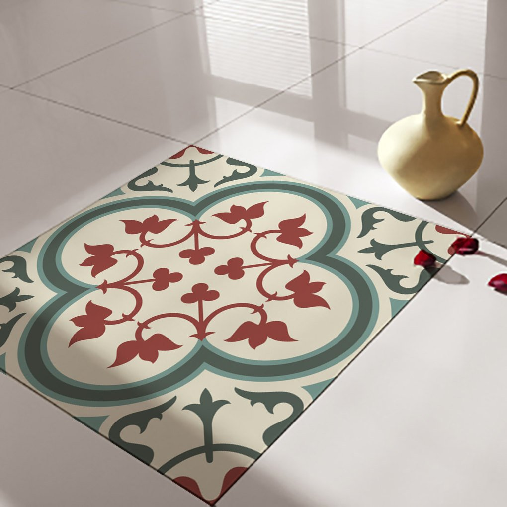 Floor Tile Decals Stickers Vinyl Self Adhesive Decorative Flooring Removable No 177 Vanillco