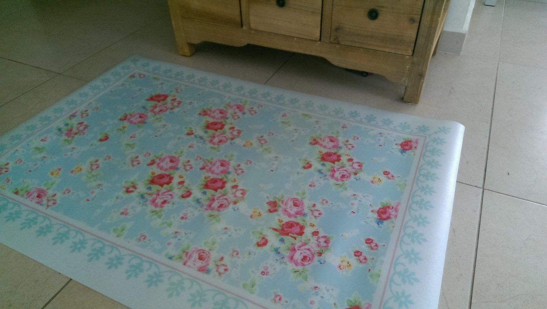 Free Shipping Flowers Pattern Decorative Pvc Vinyl Mat