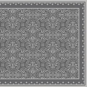 Free Shipping Gray Table Runner Wedding Table Runner geometric design placemat no.02