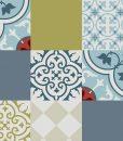 FREE shipping Tiles Pattern Decorative PVC Mat 306 – Color mix PVC Rug