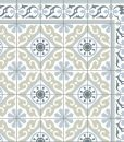 FREE SHIPPING Tiles Pattern Decorative PVC vinyl mat linoleum rug – Color Gray Green And Azure 212